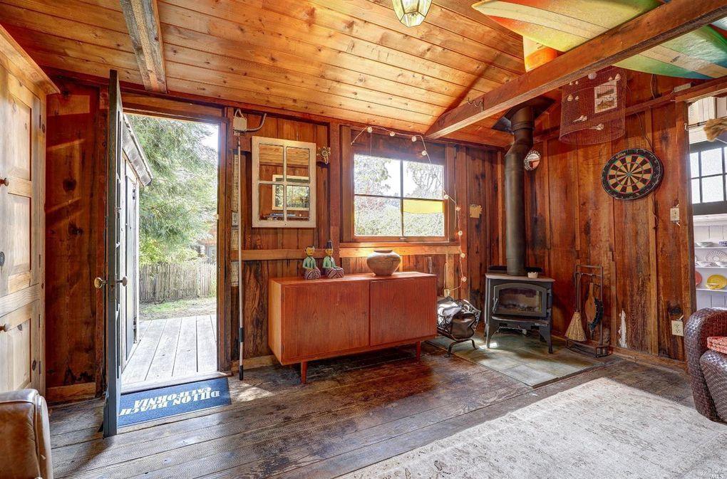 drewniany dom w Kalifornii