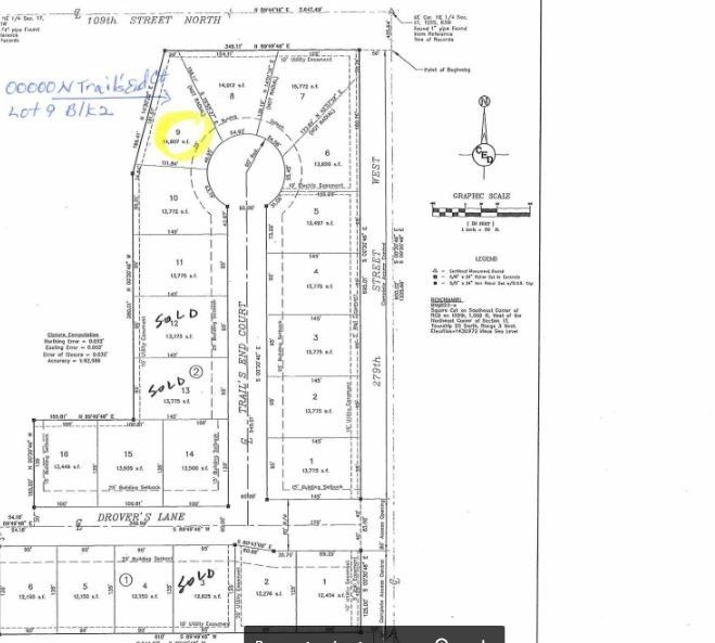 Blk 2 N Trails End Ct Unit Drovers 1st Add Xing Lot 9 Mount Hope, KS 67108