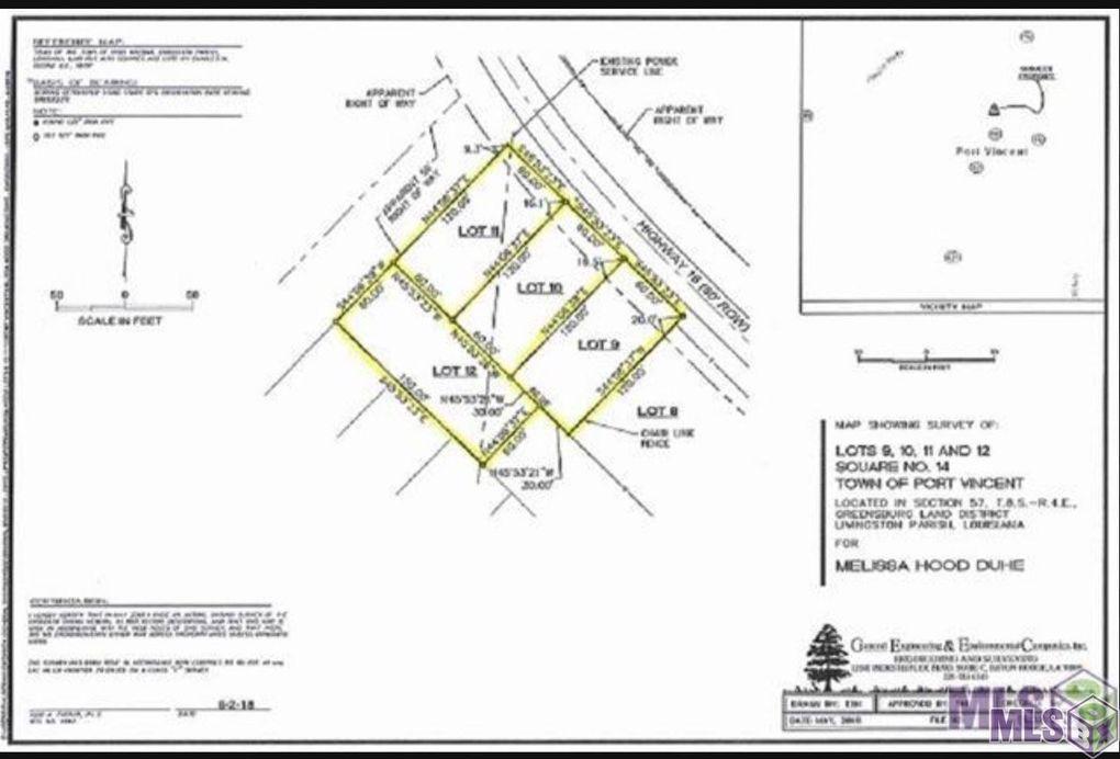 La Highway 16 Lot 9 Port Vincent, LA 70726