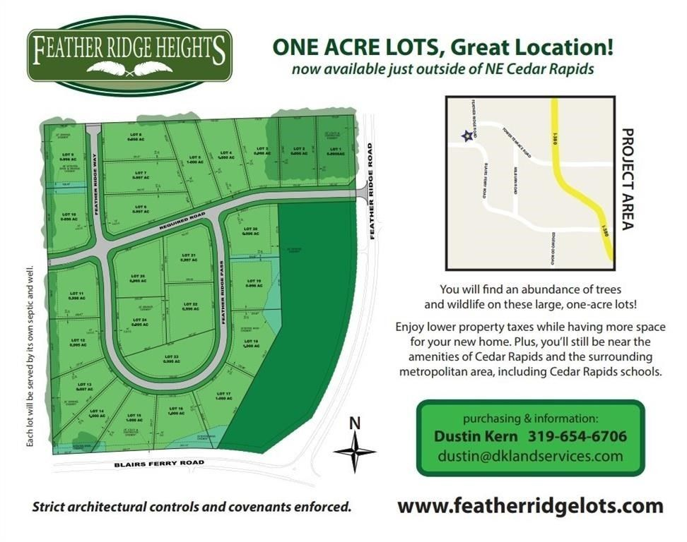 Feather Ridge Pass Cedar Rapids IA Land For Sale and Real