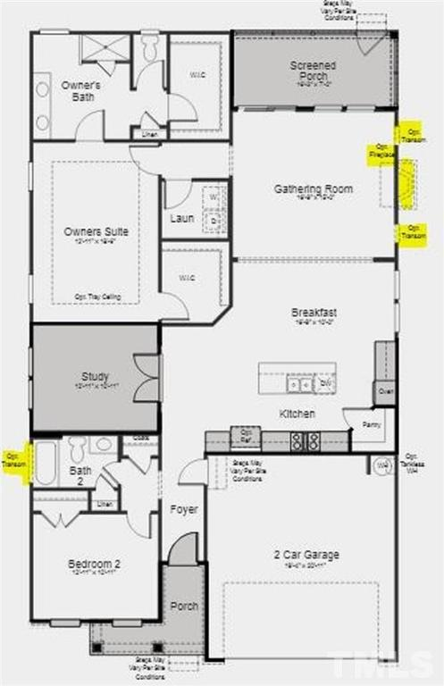 Floor plan featured at 1004 Hillside Falls Dr Unit 127, Wake Forest, NC 27587
