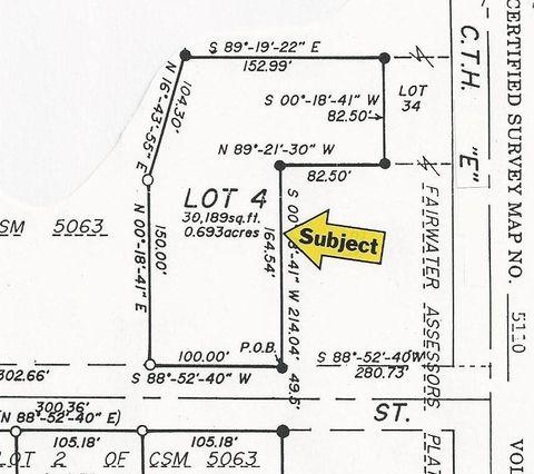 Photo of 102 Johnson St, Fairwater, WI 53931